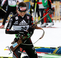 16.12.2011, Biathlonzentrum, Hochfilzen, AUT, E.ON IBU Weltcup, 3. Biathlon, Hochfilzen, Sprint Frauen, im Bild Andrea Henkel (GER) // during Sprint women E.ON IBU World Cup 3th Biathlon, Hochfilzen, Austria on 2011/12/16. EXPA Pictures © 2011, PhotoCredit: EXPA/ Oskar Hoeher