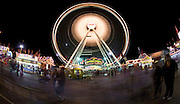 Oct 14, 2008 -- PHOENIX, AZ: Le Grande Wheel, the largest Ferris Wheel in Arizona at the Arizona State Fair. The Arizona State Fair started Oct.  10 and runs through Nov. 2. Carnival and midway workers who have worked the fair for years say attendance so far is much lower than in the past and people at the fair this year aren't spending as much money as they have in the past. Photo by Jack Kurtz / ZUMA Press