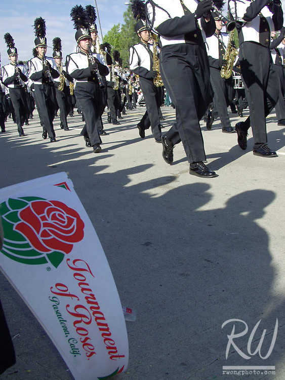 Marching Band and Pennant, 2005 Tournament of Roses Parade, Pasadena, California