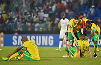Deception des joueurs de l Afrique du Sud