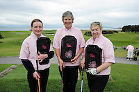 Josepine Noone, Dympna Waters and Veronica Cronin from Athenry  Golf Club at the Galway Golf Club for the AIB Ladies Irish Open Club Challenge qualifier..Photo:Andrew Downes