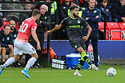 Forest Green Rovers Dominic Bernard(3) passes the ball forward during the EFL Sky Bet League 2 match between Salford City and Forest Green Rovers at Moor Lane, Salford, United Kingdom on 28 September 2019.