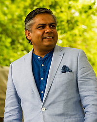 Pictured: Vivek Singh is a London-based Indian chef, restaurateur, and media personality known for his innovative take on Indian cuisine<br /> Book fanatics headed to Charlotte Square in Edinburgh which is the hub of the international Book Festival to meet the authors and also to meet up with fellow fans of the printed word.<br /> <br /> <br /> Ger Harley | EEm 21 August 2017