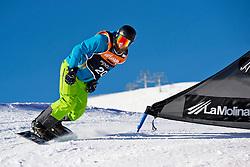 PIKALOV Serafim, Banked Slalom, 2015 IPC Snowboarding World Championships, La Molina, Spain