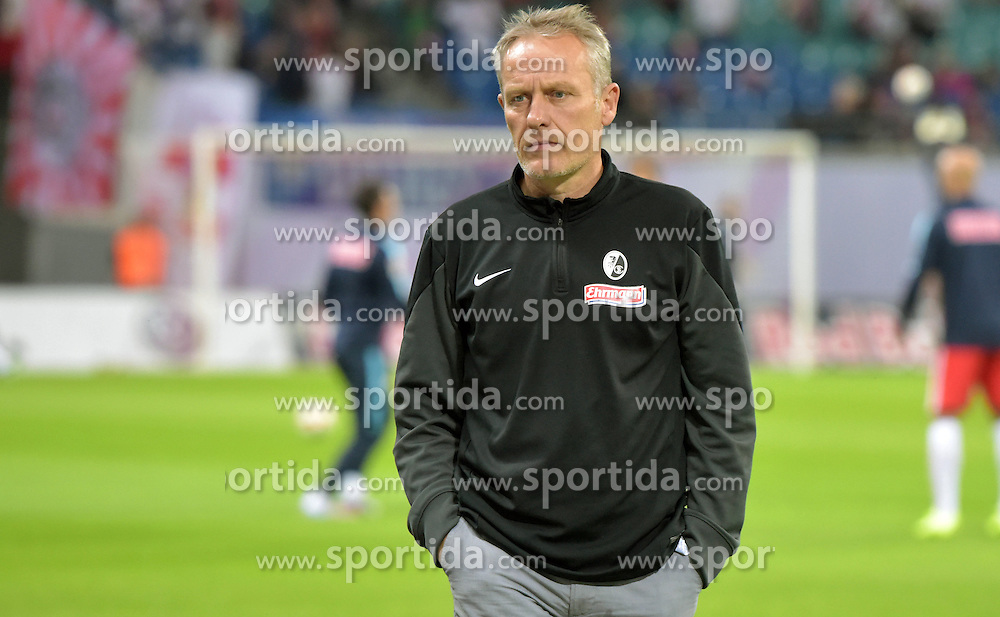 24.09.2015, Red Bull Arena, Leipzig, GER, 2. FBL, RB Leipzig vs SC Freiburg, 8. Runde, im Bild Freiburgs Trainer Christian Streich // during the 2nd German Bundesliga 8th round match between RB Leipzig and SC Freiburg at the Red Bull Arena in Leipzig, Germany on 2015/09/24. EXPA Pictures &copy; 2015, PhotoCredit: EXPA/ Eibner-Pressefoto/ Ostpix<br /> <br /> *****ATTENTION - OUT of GER*****