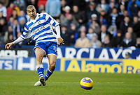 Photo: Gareth Davies.<br />Reading v Blackburn Rovers. The Barclays Premiership. 16/12/2006.<br />Reading's James Harper slots the ball home to make it 1-0 to Reading.