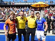 UTRECHT Hockey Play Off<br /> Kampong - Oranje - Rood<br /> Foto: Mink van der Weerden, Coen van Bunge, umpire and Sander de Wijn <br /> WORLDSPORTPICS COPYRIGHT FRANK UIJLENBROEK