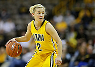 January 27 2010: Iowa guard Kamille Wahlin (2) with the ball during the first half of an NCAA women's college basketball game at Carver-Hawkeye Arena in Iowa City, Iowa on January 27, 2010. Iowa defeated Michigan State 66-64.