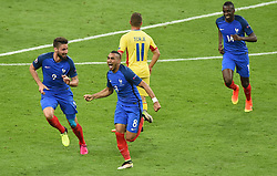 Dimitri Payet of France celebrates his goal  - Mandatory by-line: Joe Meredith/JMP - 10/06/2016 - FOOTBALL - Stade de France - Paris, France - France v Romania - UEFA European Championship Group A