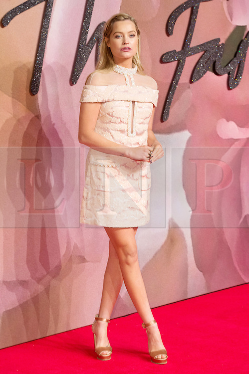© Licensed to London News Pictures. 05/12/2016. LAURA WHITMORE arrives for The Fashion Awards 2016 celebrating the best of British and international fashion. London, UK. Photo credit: Ray Tang/LNP