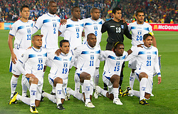 Team of Honduras during the 2010 FIFA World Cup South Africa Group H Second Round match between Spain and Honduras on June 21, 2010 at Ellis Park Stadium, Johannesburg, South Africa.   (Photo by Vid Ponikvar / Sportida)