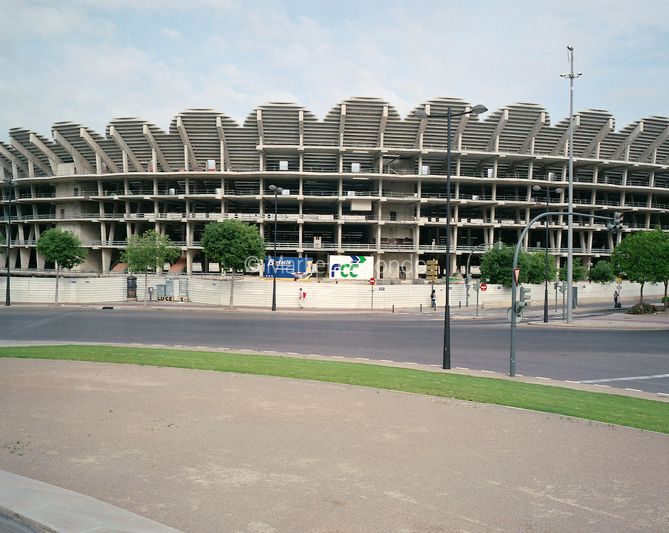 Nou Mestalla Stadium is the planned new stadium of Valencia CF. The project was presented at the end of 2006, with works to the stadium starting in August 2007. However, almost two years later, in February 2009, works were halted due to funding difficulties, and have yet to resume. ?150 million is needed to complete the project.
