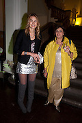 ISABELLE BSCHER;  KRISTINA GMURZYNSKA, La Mania launch party. The Royal Academy. Burlington St. London. 16 February 2012.