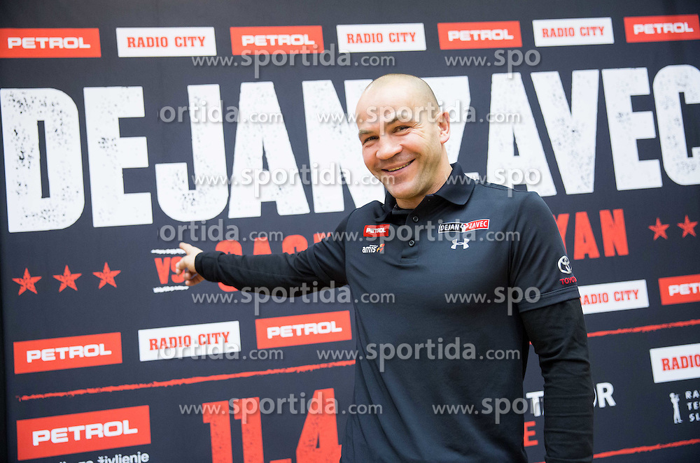 Press conference of Slovenian professional boxer Dejan Zavec aka Jan Zaveck announcing fight vs. Sasha Yengoyan, on February 24, 2015 in Ljubljana, Slovenia. Photo by Vid Ponikvar / Sportida