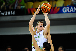 Goran Dragic of Slovenia during basketball match between National Teams of Slovenia and Mexico in Round 2 of Group D of FIBA Basketball World Cup Spain 2014, on August 31, 2014 in Gran Canaria Arena, Las Palmas, Canary Islands. Photo by Tom Luksys  / Sportida.com <br /> ONLY FOR Slovenia, France