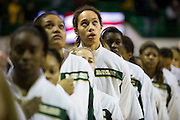WACO, TX - DECEMBER 12:  Brittney Griner #42 of the Baylor University Bears looks up during the National Anthem before tipoff against the Oral Roberts University Golden Eagles on November 13, 2012 at the Ferrell Center in Waco, Texas.  (Photo by Cooper Neill/Getty Images) *** Local Caption *** Brittney Griner