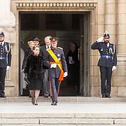 LUX/Luxemburg/20190504 - Funeral of HRH Grand Duke Jean/Uitvaart Groothertog Jean, Grand Duke Henri and Grand Duchess Maria Teresa