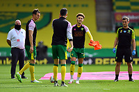 Football - 2019 / 2020 Premier League - Norwich City vs. Burnley<br /> <br /> Norwich City players during the pre-match warm-up, at Carrow Road.<br /> <br /> COLORSPORT/ASHLEY WESTERN