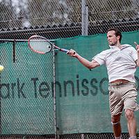 Nederland, Amsterdam, 4 april 2017.<br /> Tennisser Boy Westerhof tijdens de training.<br /> <br /> Foto: Jean-Pierre Jans