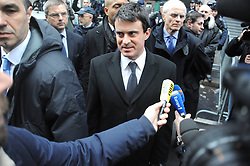 French Interior Minister Manuel Valls during the Demonstration before the Kurdish Information Office in Paris, France, January 10, 2013. Photo by Imago / i-Images...UK ONLY