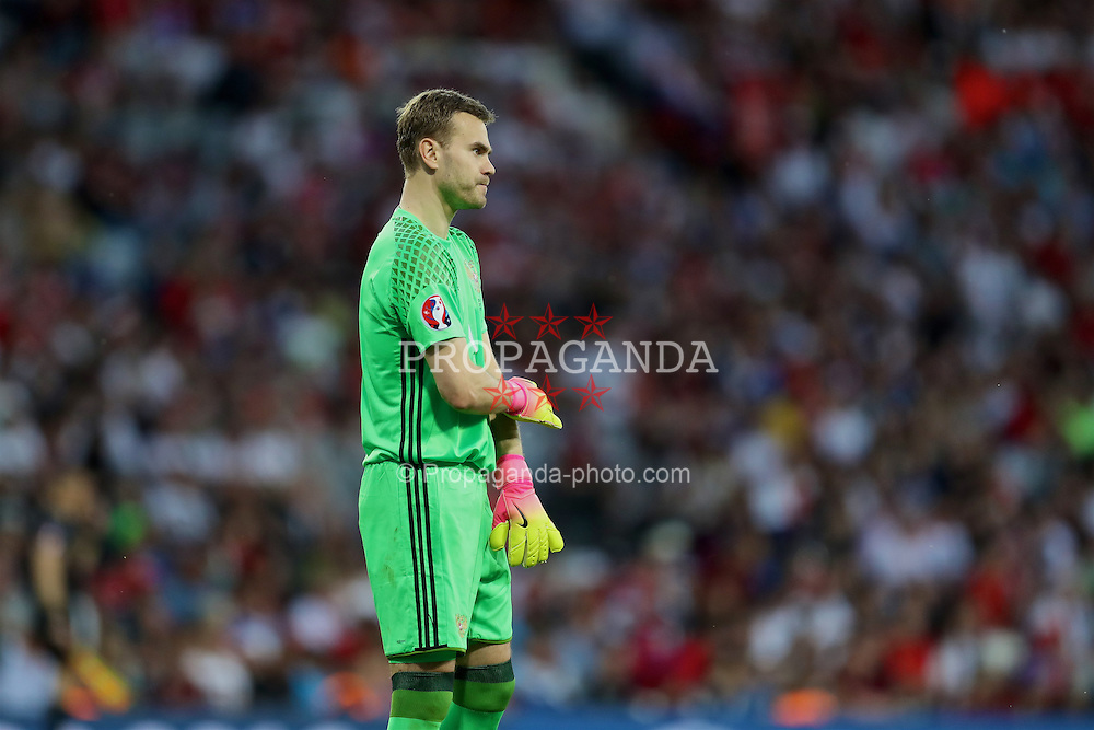 TOULOUSE, FRANCE - Monday, June 20, 2016: Russia's goalkeeper Igor Akinfeev in action against Wales during the final Group B UEFA Euro 2016 Championship match at Stadium de Toulouse. (Pic by David Rawcliffe/Propaganda)