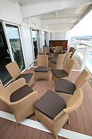 The launch of Royal Caribbean International's Oasis of the Seas, the worlds largest cruise ship..Staterooms.Presidential suite, balcony
