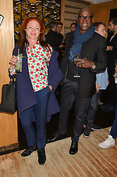 CAMILLA LOWTHER and CHARLES ABOAH at the Louis Vuitton for Unicef Event #MAKEAPROMISE held at The Apartment, 17-20 New Bond Street, London on 14th January 2016.