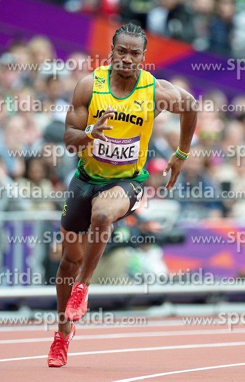 07.08.2012, Olympia Stadion, London, GBR, Olympia 2012, Leichtathletik, im Bild YOHAN BLAKE // during Athletics, at the 2012 Summer Olympics at the Olympic Stadium, London, United Kingdom on 2012/08/07. EXPA Pictures © 2012, PhotoCredit: EXPA/ Newspix/ Marek Biczyk..***** ATTENTION - for AUT, SLO, CRO, SRB, SUI and SWE only *****