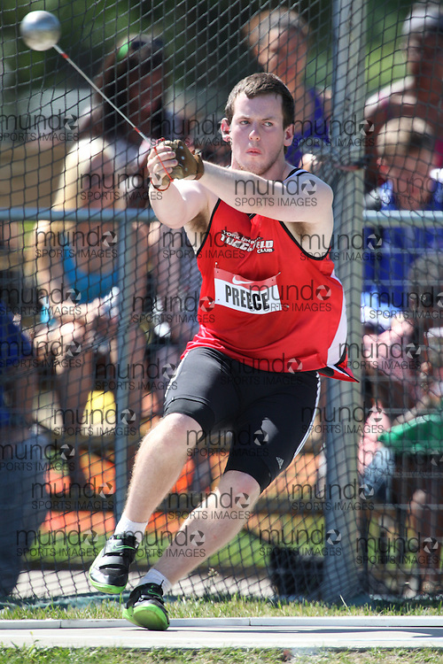Winnipeg, Manitoba ---11-07-10--- Chris Preece competes in the hammer throw at the 2011 Canadian Junior National Track and Field Championships in Winnipeg, Manitoba,  July 10, 2011..GEOFF ROBINS/ Mundo Sport Images.