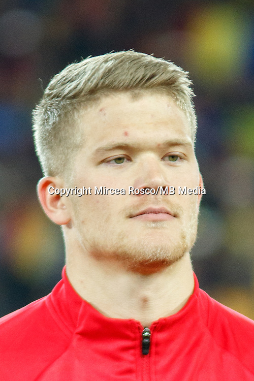 CLUJ-NAPOCA, ROMANIA, MARCH 26: Denmark's national soccer player Andreas Cornelius pictured before the 2018 FIFA World Cup qualifier soccer game between Romania and Denmark, on March 26, at Cluj Arena Stadium, in Cluj-Napoca, Romania. (Photo by Mircea Rosca/Getty Images)