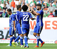 Diego Costa of Chelsea celebrates scoring with team mates during the pre season friendly match at Weserstadion, Bremen, Germany.<br /> Picture by EXPA Pictures/Focus Images Ltd 07814482222<br /> 07/08/2016<br /> *** UK & IRELAND ONLY ***<br /> EXPA-EIB-160807-0249.jpg