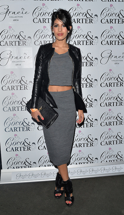 TOWIE star Jasmin Walia attends the Coco and Cater clothing launch party at Sugahut, Brentwood, Essex, UK. 23/10/2014<br />