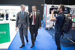 © Licensed to London News Pictures . 12/09/2017. Manchester , UK . Health Secretary JEREMY HUNT arrives at the Health and Care Innovation Expo at Manchester Central Convention Centre . Photo credit: Joel Goodman/LNP
