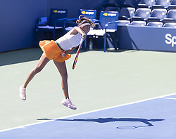 September 4, 2018 - New York, New York, United States - Lea Ma of USA serves during US Open 2018 junior girls 2nd round match against Lenka Stara of Slovakia at USTA Billie Jean King National Tennis Center (Credit Image: © Lev Radin/Pacific Press via ZUMA Wire)