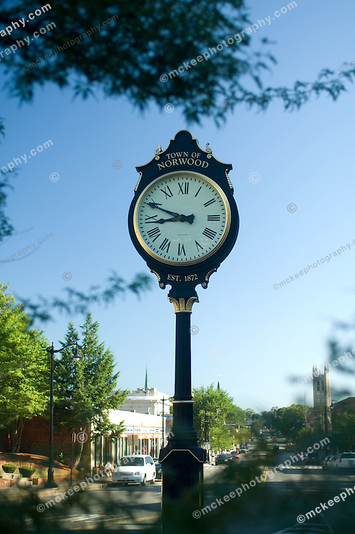 Norwood town clock