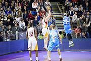 DESCRIZIONE : Roma Lega A 2014-15 Acea Virtus Roma Dinamo Sassari<br /> GIOCATORE : maxime de zeeuw<br /> CATEGORIA : controcampo tiro tre punti<br /> SQUADRA : Acea Virtus Roma Dinamo Sassari<br /> EVENTO : Campionato Lega Serie A 2014-2015<br /> GARA : Acea Virtus Roma Dinamo Sassari<br /> DATA : 02.11.2014<br /> SPORT : Pallacanestro <br /> AUTORE : Agenzia Ciamillo-Castoria/M.Greco<br /> Galleria : Lega Basket A 2014-2015 <br /> Fotonotizia : Roma Lega A 2014-15 Acea Virtus Roma Dinamo Sassari