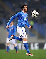Fussball International, Nationalmannschaft   EURO 2012 Play Off, Qualifikation, Italien - Uruguay      15.11.2011 Giampaolo Pazzini (Italien)