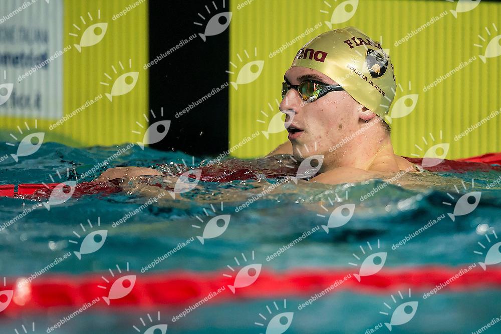 Alessandro Miressi Fiamme Oro<br /> Day01 100m Stile Libero Uomini<br /> Campionati Italiani Assoluti Nuoto Invernali Open Fin<br /> Riccione Italy 16-17/12/2016<br /> Photo Andrea Masini/Deepbluemedia/Insidefoto