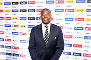Guyana coach Michael Johnson (GUY) during CONCACAF Gold Cup groups unveiling news conference, Wednesday, April 10, 2019, in Los Angeles.