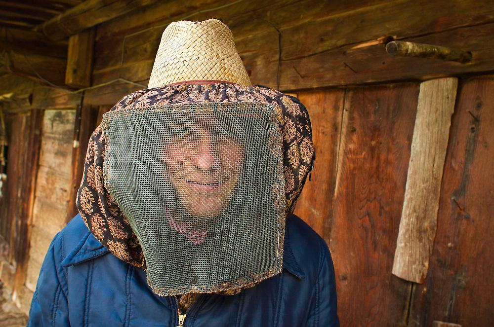 Beekeeper.<br /> Rhone Alps, France.