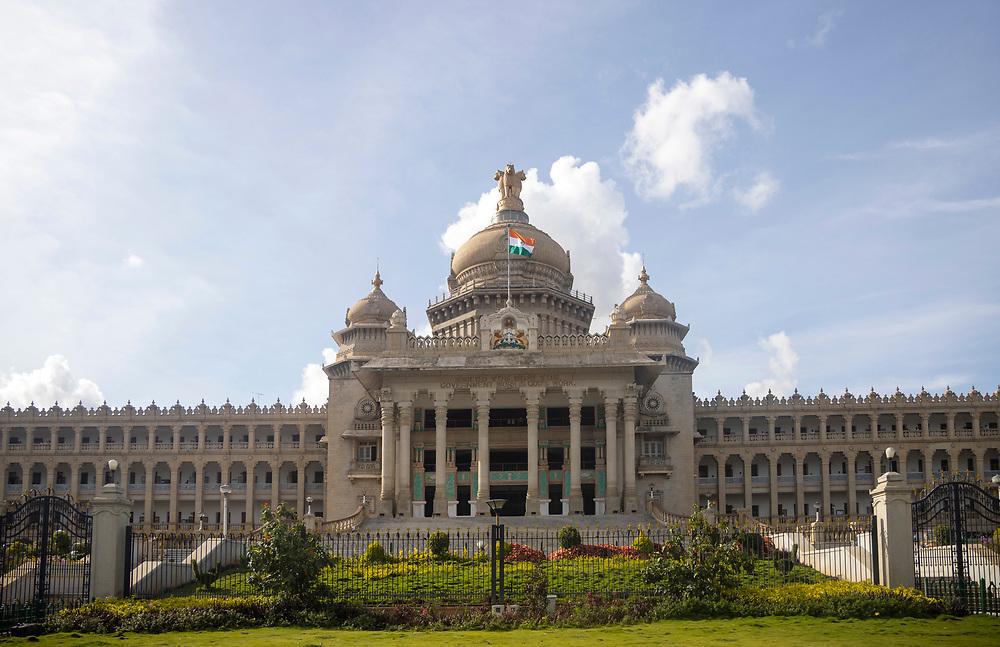 KADIRI, INDIA - 23rd October 2019 - Vidhana Soudha building, Bangalore Bengaluru, Karnataka, India, South India