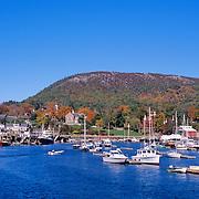 Camden Harbor in autumn. Camden, Maine