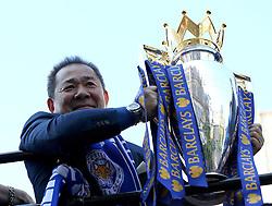 Leicester City owner Vichai Srivaddhanaprabha raises the Premier League Trophy - Mandatory by-line: Robbie Stephenson/JMP - 16/05/2016 - FOOTBALL - Leicester City FC, Barclays Premier League Winners 2016 - Leicester City Victory Parade
