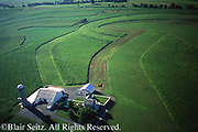 PA Landscapes, Southcentral Pennsylvania, Aerial Photographs Farmlands, Mixed Cultivation and Contour farming, Lebanon Co.
