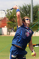 Jonty Rhodes during the Mumbai Indians nets session held at the Sawai Mansingh Stadium in Jaipur on the 26th September 2013<br /> <br /> Photo by Ron Gaunt-CLT20-SPORTZPICS <br /> <br /> Use of this image is subject to the terms and conditions as outlined by the CLT20. These terms can be found by following this link:<br /> <br /> http://sportzpics.photoshelter.com/image/I0000NmDchxxGVv4