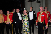 HUBERT DE BILLY; CHARLOTTE ARTUS; ALAN ARTUS;, Charity Dinner in aid of Caring for Courage The Royal Scots Dragoon Guards Afganistan Welfare Appeal. In the presence of the Duke of Kent. The Royal Hospital, Chaelsea. London. 20 October 2011. <br /> <br />  , -DO NOT ARCHIVE-© Copyright Photograph by Dafydd Jones. 248 Clapham Rd. London SW9 0PZ. Tel 0207 820 0771. www.dafjones.com.