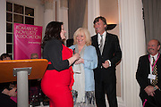 ROWAN COLEMAN; JUDY FINNIGAN; RICHARD MADELEY, Romantic Novelists Association The RoNas Awards - RICHARD MADELEY & JUDY FINNIGAN - ballroom of the RAF Club, 128 Piccadilly, London. 26 February 2013
