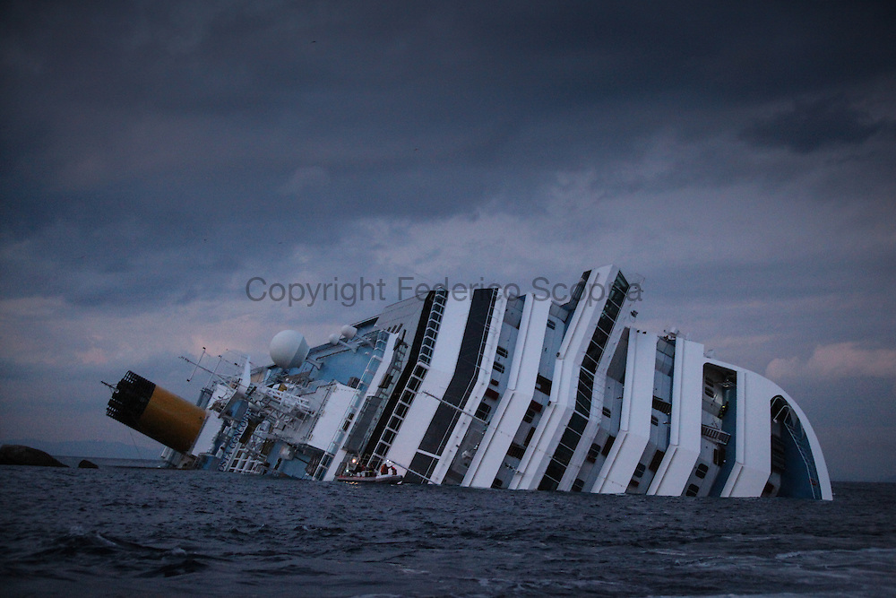 The Costa Concordia cruise ship