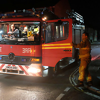 25 January 2016, News, Cowes, Isle of Wight, England, Large fire in former J Samuel White ship yard. Fire started in a garage unit, and rapidley spread to boat building and fabrication units. A fire has broken out at a workshop on an industrial estate on the Isle of Wight.<br />