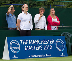 MANCHESTER, ENGLAND: Tournament Director Anders Borg eats an ice cream on Day 4 of the Manchester Masters Tennis Tournament at the Northern Tennis Club. (Pic by David Tickle/Propaganda)